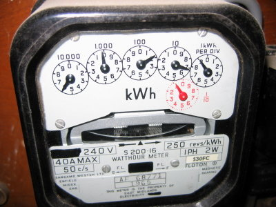 Electricity meter going backwards?