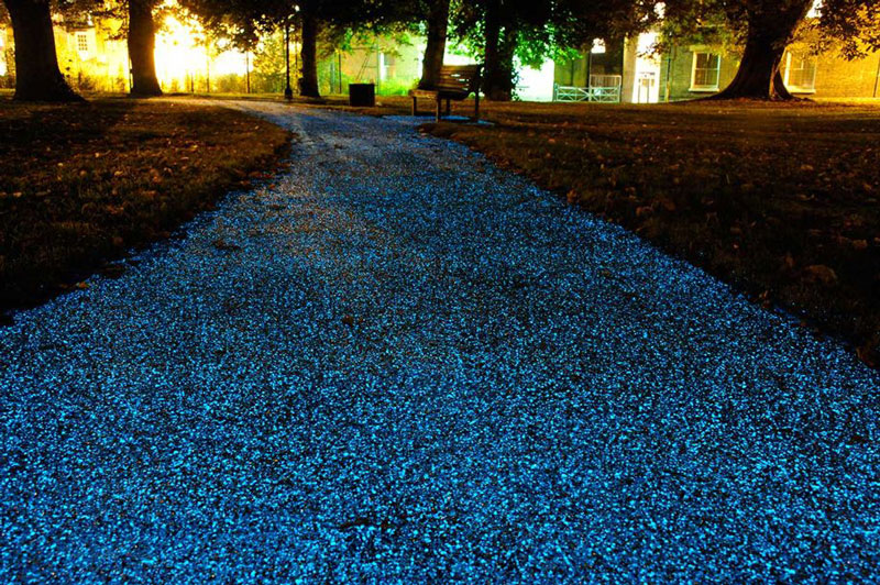 Glow-in-the-Dark paths and driveways